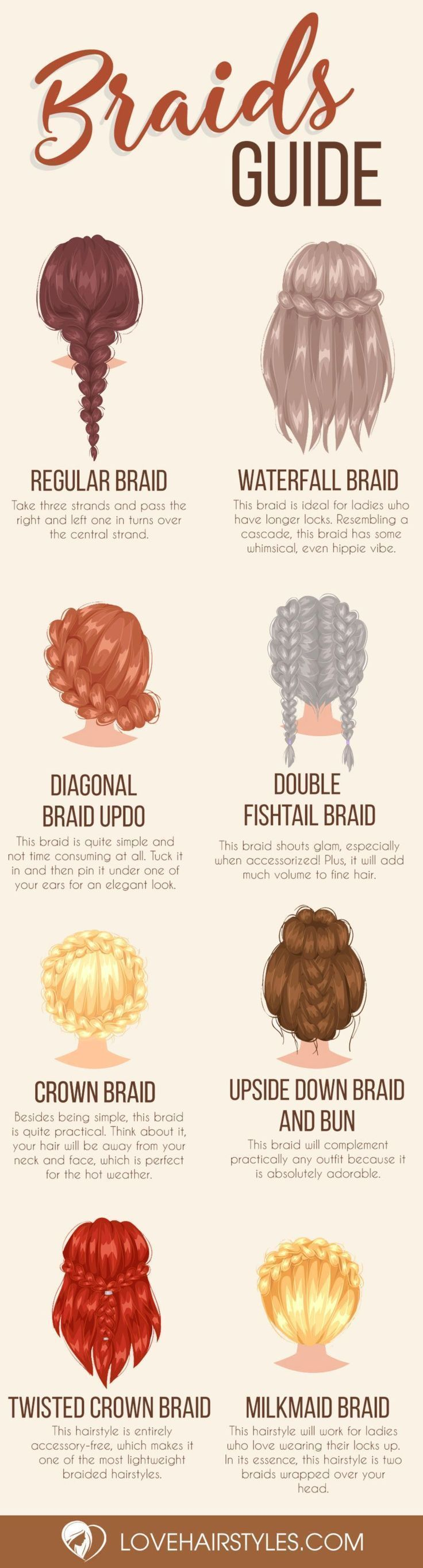 14 simple braided hairstyles and step by step instructions