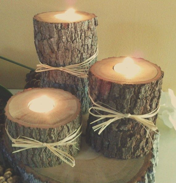 25 Best Rustic Lighting Ideas From Etsy To Buy In 2019: Best 25+ Wood Candle Holders Ideas On Pinterest