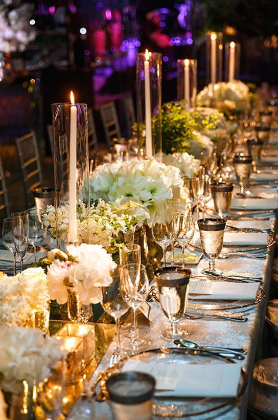 Wedding Reception Decor With Candles Romantic wedding