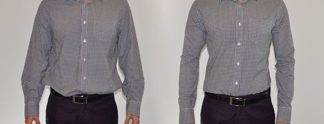 a Ill-fitting shirt vs a custom made shirt