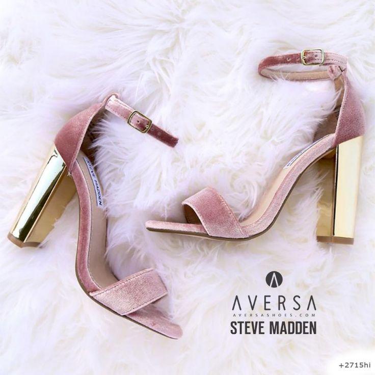Steve Madden Carrson pink-gold velvet