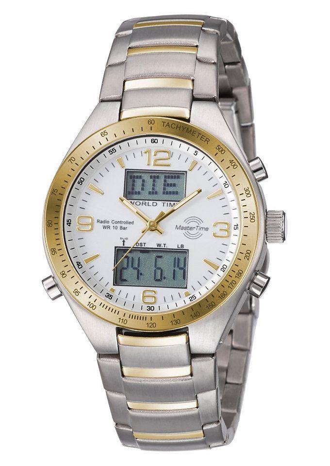 MASTER TIME Funkchronograph »MTGS-10330-12M«, mit Langzeitbatterie für 99,95€. Sportive Herrenarmbanduhr bei OTTO