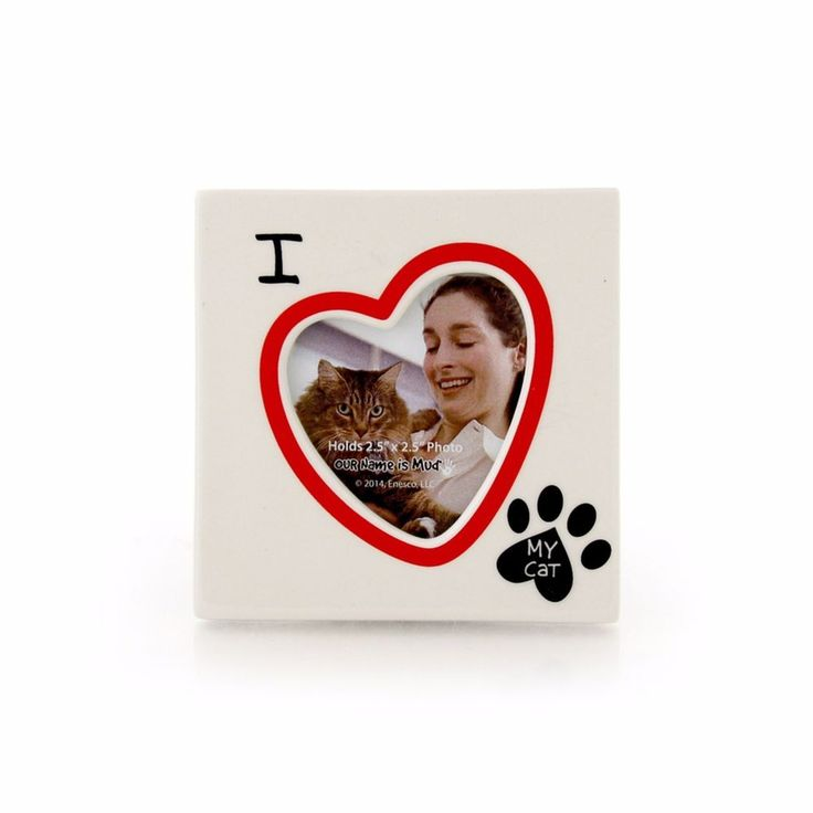 """""""I Heart My Cat/I Heart My Dog"""" Photo Frame by Our Name is Mud 4.25"""" H #OurNameisMud #Modern"""