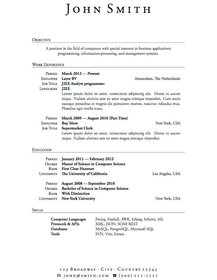 Cv Template No Experience 2-Cv Template College resume template