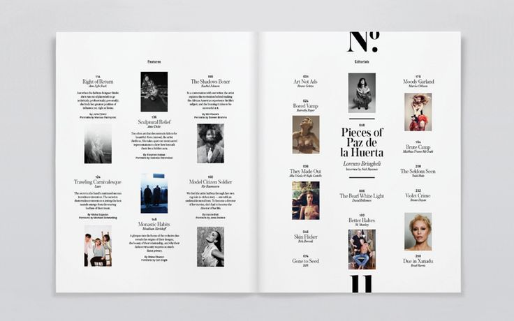 I like the layout of this contents page, as it looks simple and there a lot of graphic features used