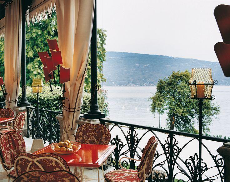 The best view of Lake Garda from the terrace of Villa Feltrinelli. #lake #garda #grandhotel #villafeltrinelli #terrace  #landscape