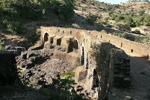 "The Portuguese Bridge. A short distance further downstream from the Blue Nile Falls sits the 17th century first stone bridge ever constructed in Ethiopia, at the period of the Portuguese influence, built at the command of Emperor Susenyos around 1620. Now days they call it ""The Portuguese Bridge"""