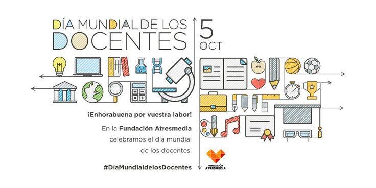 Hoy se festeja el  #DíaMundialDeLosDocentes  y con la tendencia se comparten imágenes felicitando a profesores. http://qoo.ly/iaj4w