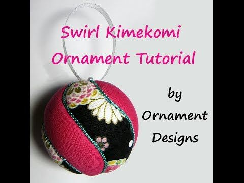 Swirl Kimekomi Ornament Tutorial - YouTube