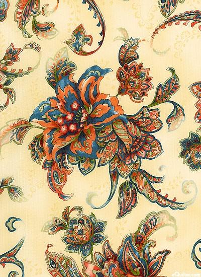 Marbella - Folk Fantasy Blossoms - Toasty Beige