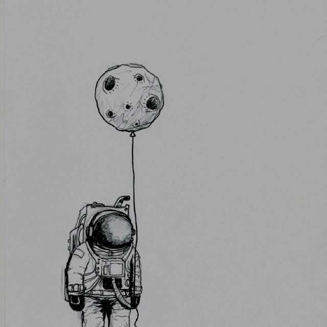 Astronaut. #illustration #moon