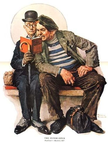 """The Interloper"", 1927, by Norman Rockwell (American, 1894-1978)"