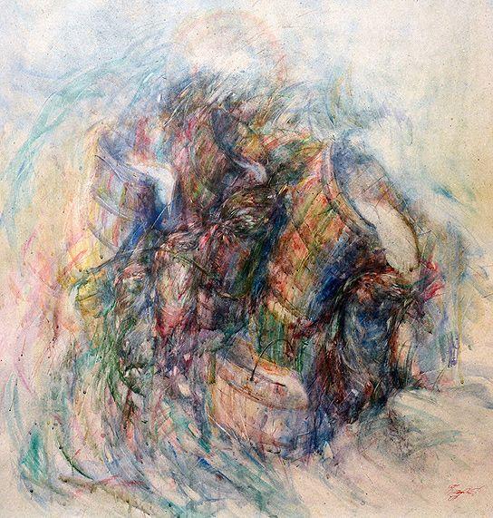 FULL Author's mixed technique, 88 x 92.5 cm