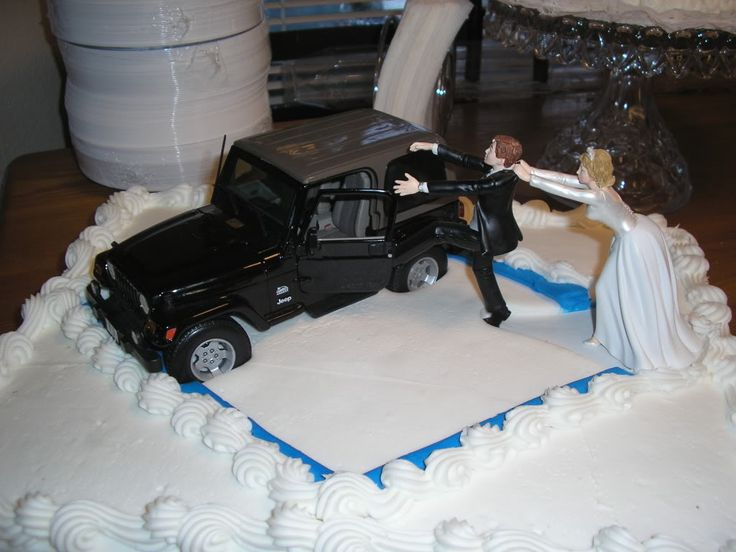 Jeep wedding cake topper - I'm surprising my fiance with this on our cake.