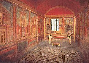 De rijke mensen leefden in de Romeinse tijd in mooie villa's. De meeste hadden er een op het platteland en een in de stad. Aan de buitenkant leken de huizen heel gewoontjes.