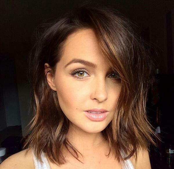 Jo from Greys Anatomy. Short choppy brown hair