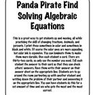 This is a great activity that my students LOVE! Students find partners and work problems solving addition and subtraction algebraic equations. A gr...