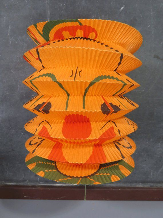 halloween pumpkin clown hanging paper lantern accordion style
