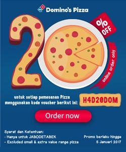 Domino Pizza Super Discount! http://www.perutgendut.com/read/domino-pizza-super-discount/4283 #Promo #Food #Kuliner #Pizza