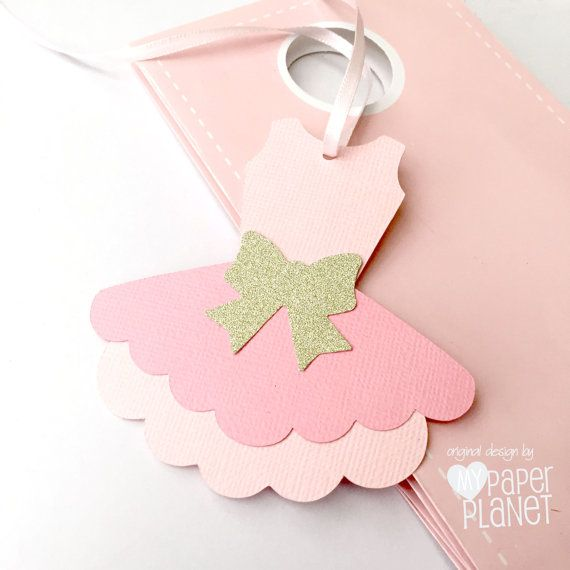 Pink Ballet Tutu Gift tags. Baby shower or ballerina birthday party favor tags by MyPaperPlanet