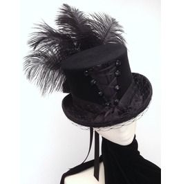 Gothic Neo Victorian Corset Top Hat