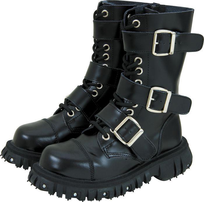 T.U.K. Heavy-Duty Leather 3-Buckle Boots