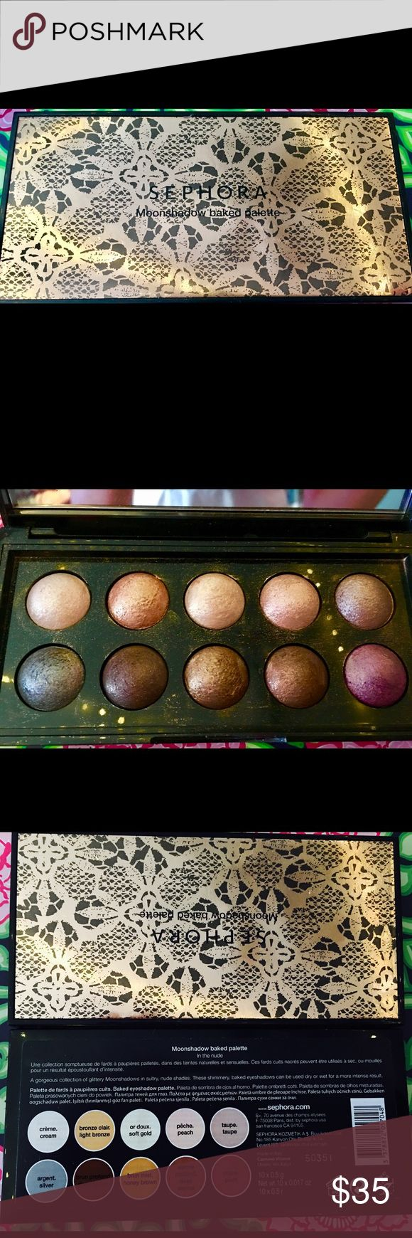 Sephora Moon shadow palette Only tested. Sephora Makeup Eyeshadow
