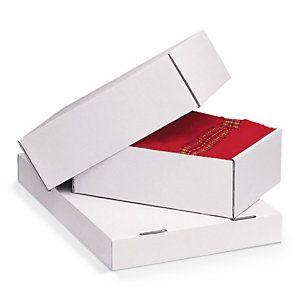 Bílé krabice s odnímatelným víkem