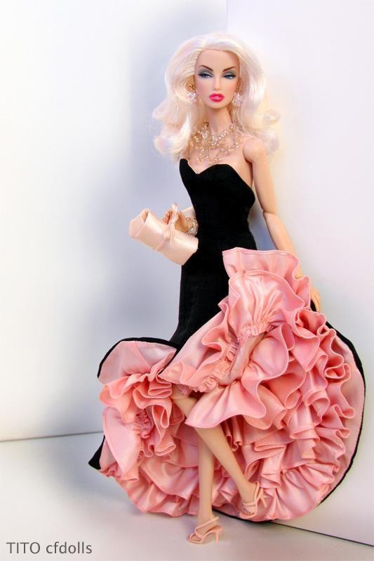 Monogram Curiosity wears Siren Barbie FMC