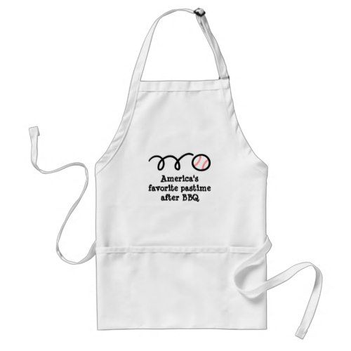 Humorous BBQ apron with funny baseball quote