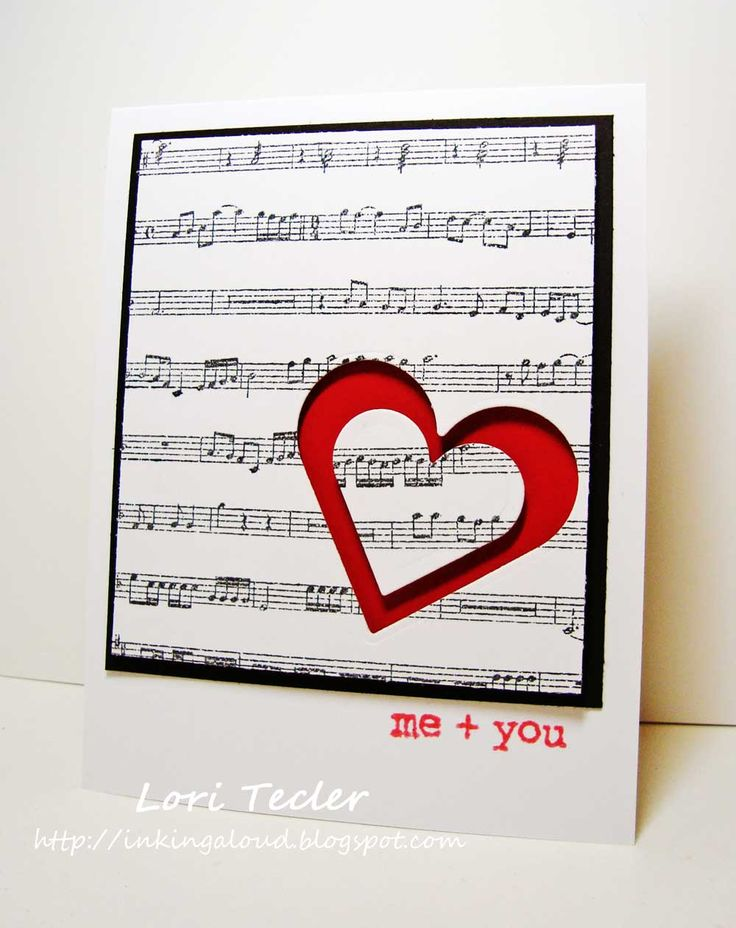 151 best images about Cards with a music theme – Musical Valentines Cards
