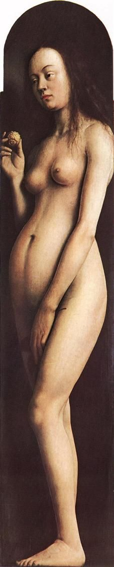 Eve, from the right wing of the Ghent Altarpiece - Jan van Eyck