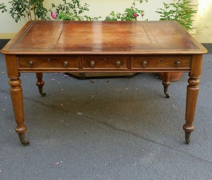 Antik Englischer Partnerdesk Schreibtisch 1870 Tisch Schreibtisch Wg Zimmer