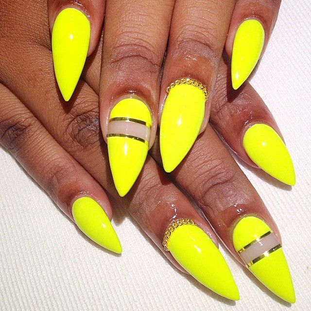 Spring/summer stiletto nails @KortenStEiN