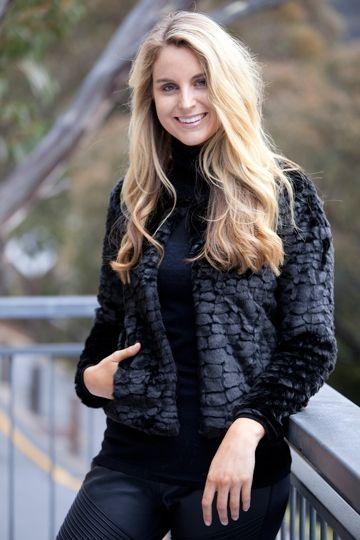 We have all fallen in love with the Furry Floss Jacket from Unreal Fur. Its classic cut makes this an essential for every wardrobe. Dress it up with an elegant Grecian dress or wear with black skinny jeans and boots for a causal on trend look.