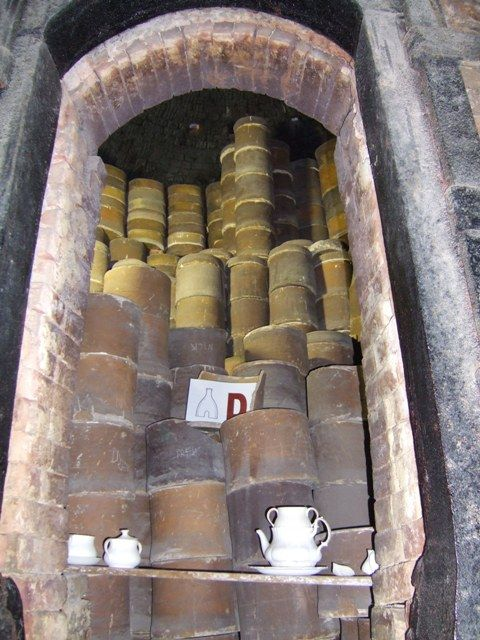 Gladstone Pottery Museum - Saggars loaded in the oven by John M, via Geograph