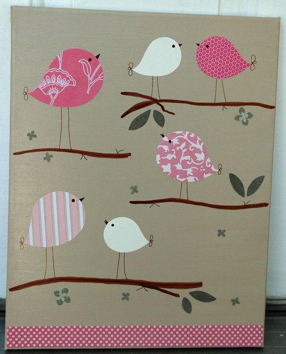 12 best home decor birds nests images on pinterest for Bird nursery fabric
