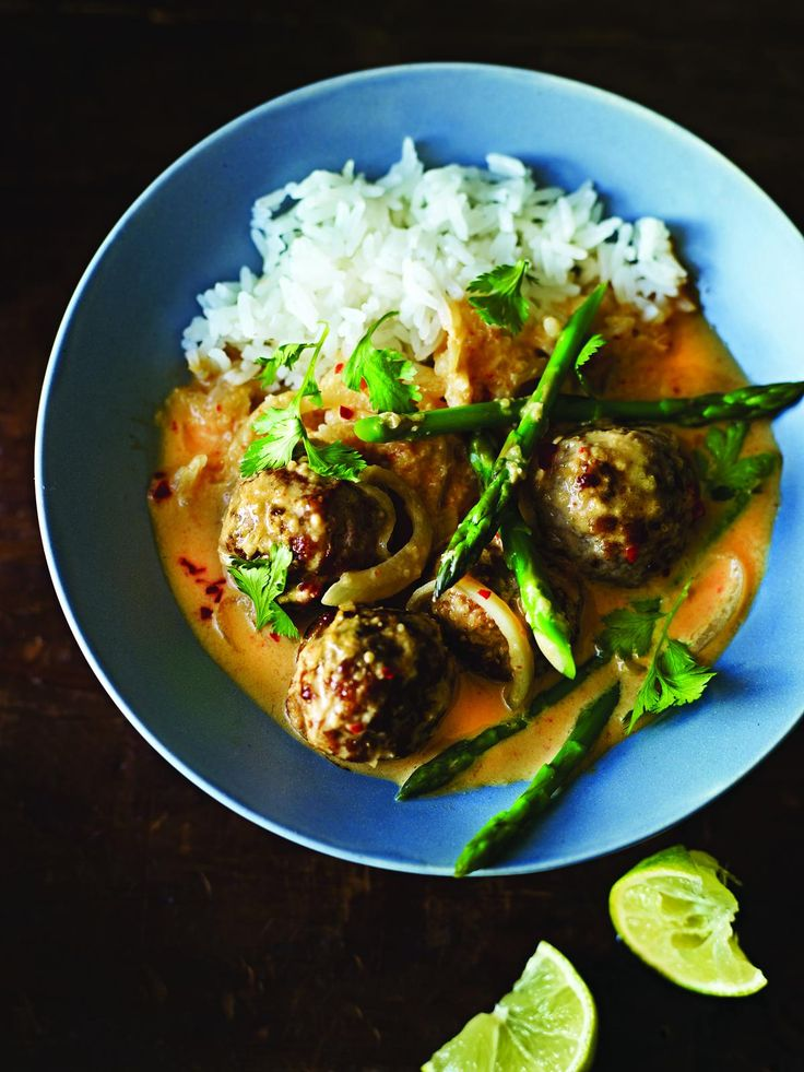 Pork Meatball Thai Curry from Dean Edwards' Mincepiration cookbook. This quick, easy and delicious recipe is the perfect balance of hot, sweet, salty and sour.