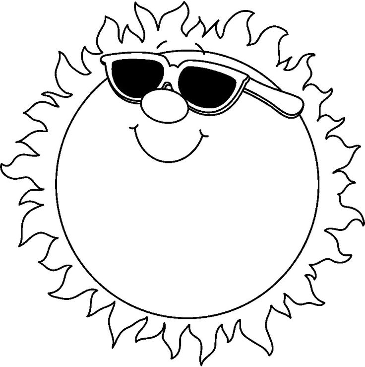free black and white clip art summer Google Search