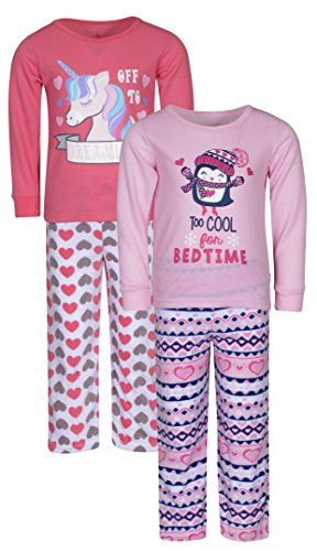 d96b61d18241 Duck Duck Goose Girls 2 Pack Polar and Thermal Pajama To... https ...