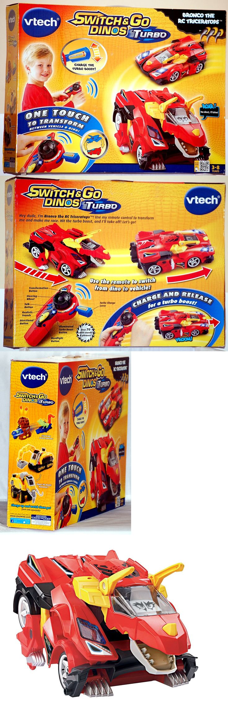 Game Cartridges and Game Books 177916: Vtech Switch And Go Dinos Turbo Bronco The Rc Triceratops Vehicle - Brand New -> BUY IT NOW ONLY: $69.99 on eBay!