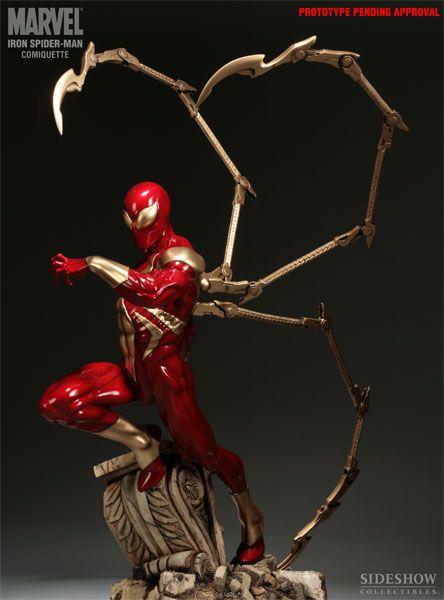 Iron Spider-Man Polystone Statue