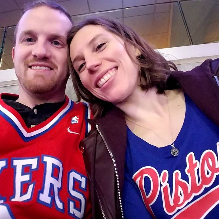 At the Sixers game tonight. We won of course! Let's go Sixers! #76ers #Sixers #Pistons #pistonssuck