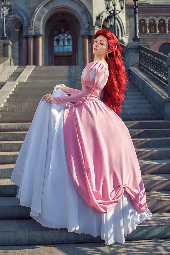 Ariel pink dress cosplay