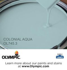 COLONIAL AQUA OL745.3 is a part of the aquas collection by Olympic® Paint.