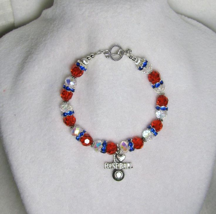 Baseball & the 4Th - Jewelry creation by Linda Foust