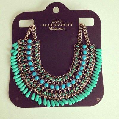 Zara necklase : beautiful blue