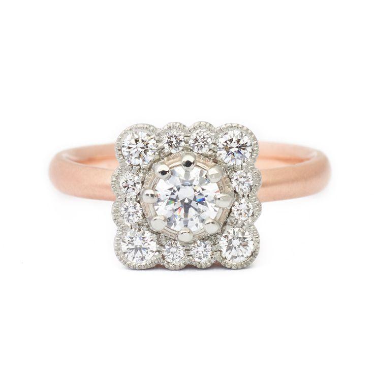 Lauren Scalloped Engagement Ring #engagementring #vintagering #alternativebridal #diamondring #annesportun #preciouseveryday #vintagebridal