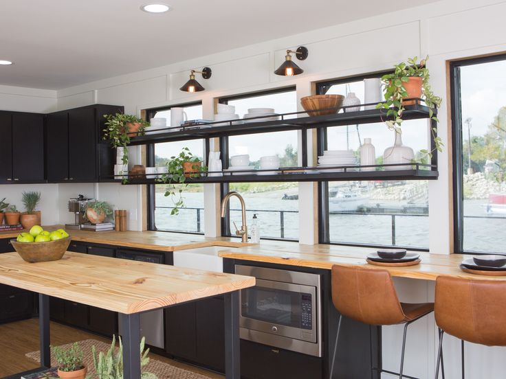 You have to see this houseboat makeover that was featured on Fixer Upper!