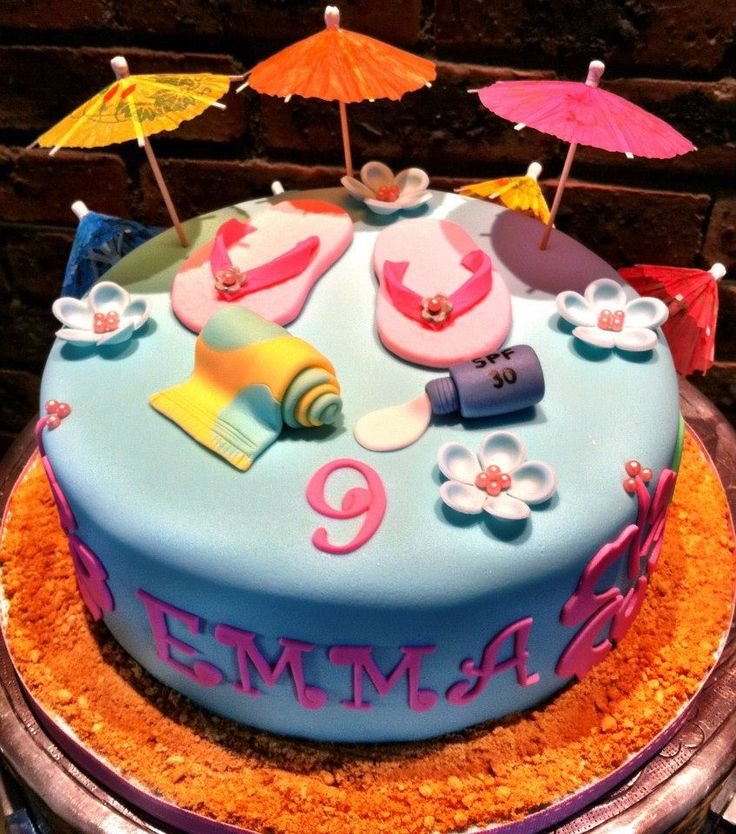 Pool party cakes, Party cakes and Pool parties on Pinterest